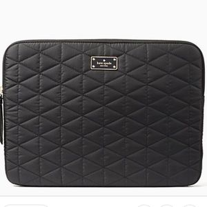 Kate Spade Black Quilted Laptop Bag! Brand new!!